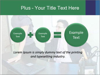 Business assistant flirting PowerPoint Template - Slide 75