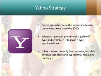 Woman Wearing Yellow Bikini PowerPoint Template - Slide 11