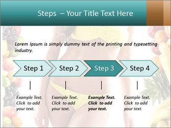 Woman Wearing Yellow Bikini PowerPoint Template - Slide 4