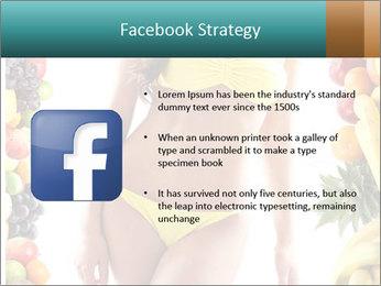Woman Wearing Yellow Bikini PowerPoint Template - Slide 6
