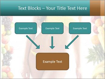 Woman Wearing Yellow Bikini PowerPoint Template - Slide 70