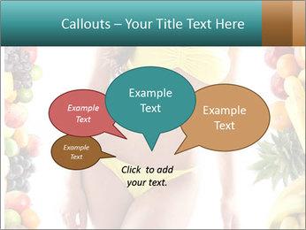 Woman Wearing Yellow Bikini PowerPoint Template - Slide 73