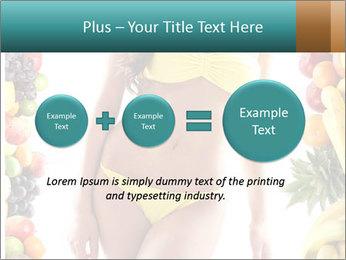 Woman Wearing Yellow Bikini PowerPoint Template - Slide 75
