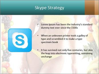 Woman Wearing Yellow Bikini PowerPoint Template - Slide 8