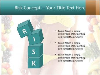 Woman Wearing Yellow Bikini PowerPoint Template - Slide 81
