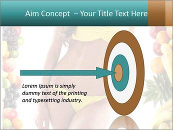 Woman Wearing Yellow Bikini PowerPoint Template - Slide 83