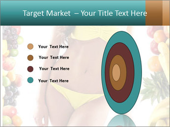 Woman Wearing Yellow Bikini PowerPoint Template - Slide 84