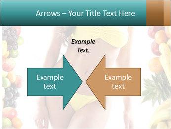 Woman Wearing Yellow Bikini PowerPoint Template - Slide 90