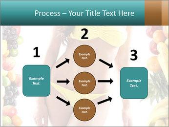 Woman Wearing Yellow Bikini PowerPoint Template - Slide 92