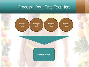 Woman Wearing Yellow Bikini PowerPoint Template - Slide 93