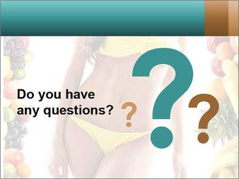 Woman Wearing Yellow Bikini PowerPoint Template - Slide 96