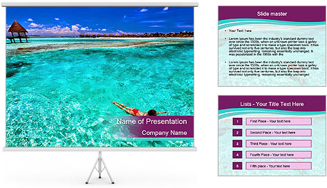 Bungalo In Polynesia PowerPoint Template