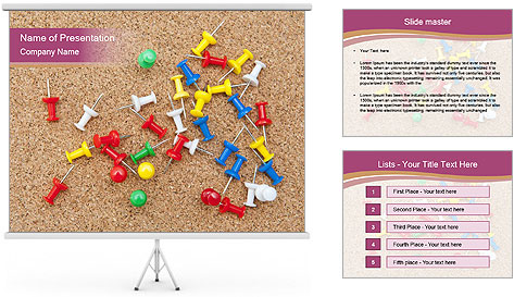 Office Pins PowerPoint Template