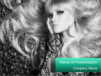 Black And White Model Photo PowerPoint Template