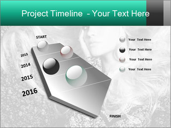 Black And White Model Photo PowerPoint Templates - Slide 26