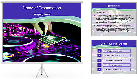 Stereo Music Mixer PowerPoint Template
