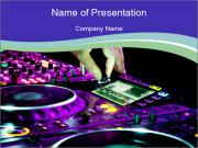 Stereo Music Mixer PowerPoint Templates