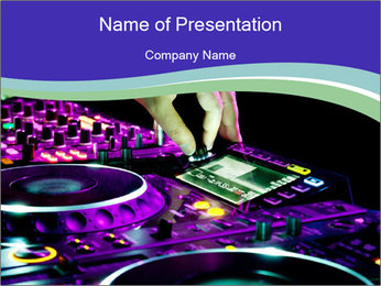 Stereo Music Mixer PowerPoint Template - Slide 1