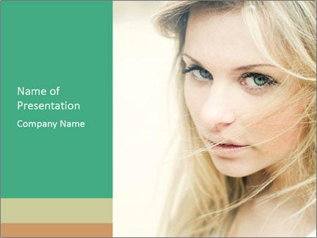 Blond Beauty PowerPoint Template