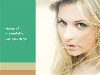 Blond Beauty PowerPoint Template - Slide 1