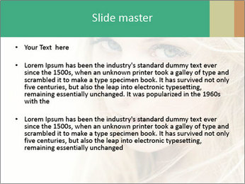 Blond Beauty PowerPoint Template - Slide 2