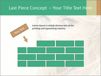 Blond Beauty PowerPoint Template - Slide 46