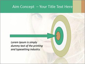Blond Beauty PowerPoint Template - Slide 83