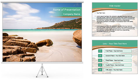 Corsica Beach PowerPoint Template