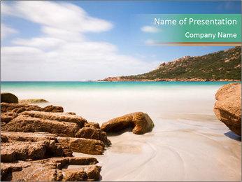 Corsica Beach PowerPoint Templates - Slide 1