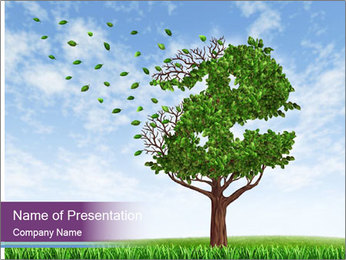 Dollar Tree PowerPoint Template - Slide 1
