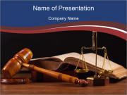 Court Fairness PowerPoint Template