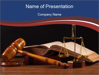 Court Fairness PowerPoint Template - Slide 1