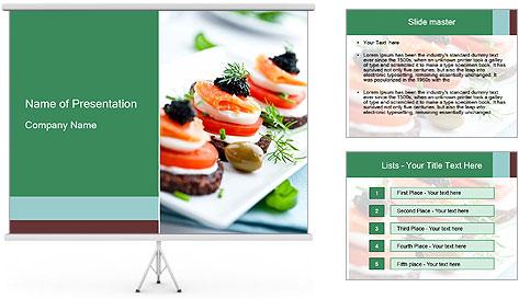 Smoked Salmon Snack PowerPoint Template