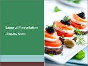 Smoked Salmon Snack PowerPoint Templates