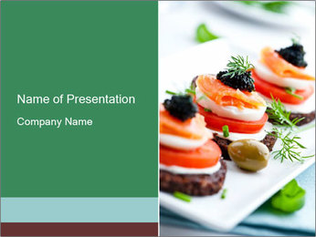 Smoked Salmon Snack PowerPoint Templates - Slide 1