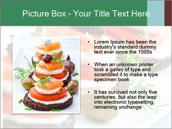 Smoked Salmon Snack PowerPoint Templates - Slide 13