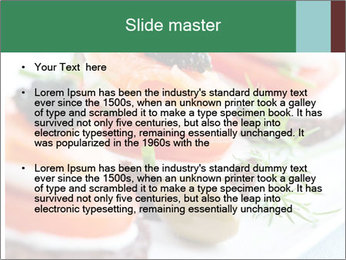 Smoked Salmon Snack PowerPoint Templates - Slide 2