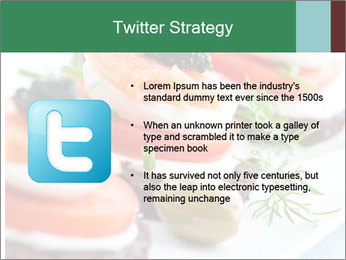 Smoked Salmon Snack PowerPoint Templates - Slide 9