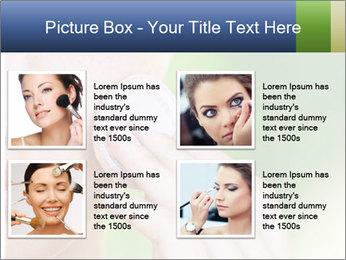 Woman Applying Face Powder PowerPoint Template - Slide 14