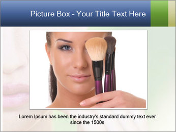 Woman Applying Face Powder PowerPoint Templates - Slide 15