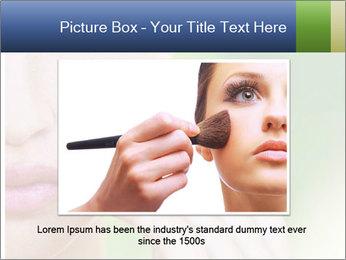 Woman Applying Face Powder PowerPoint Template - Slide 16