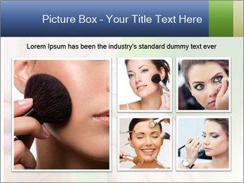 Woman Applying Face Powder PowerPoint Template - Slide 19