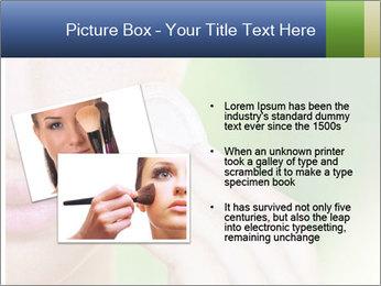 Woman Applying Face Powder PowerPoint Template - Slide 20