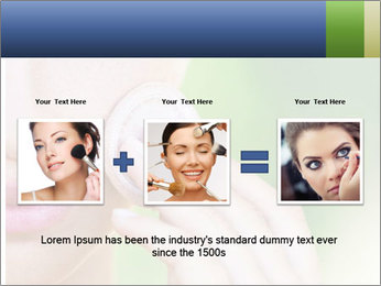 Woman Applying Face Powder PowerPoint Template - Slide 22