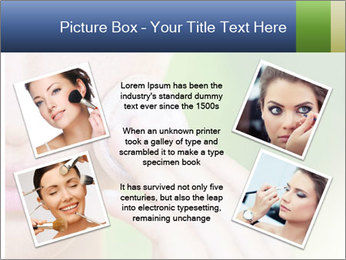 Woman Applying Face Powder PowerPoint Templates - Slide 24