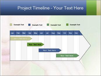 Woman Applying Face Powder PowerPoint Template - Slide 25