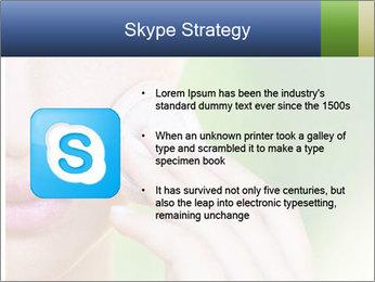 Woman Applying Face Powder PowerPoint Template - Slide 8