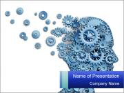 Human head PowerPoint Templates