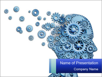 Human head PowerPoint Template - Slide 1
