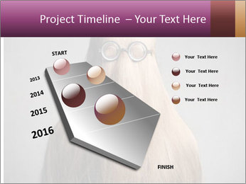 Glasses In Woman's Hair PowerPoint Template - Slide 26